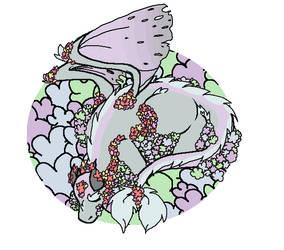 Flower Dragon by NamNomChu