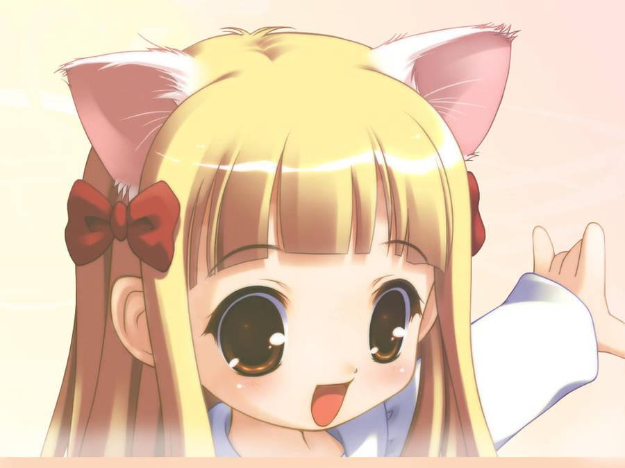 Anime Cat Girl Wallpaper By Chaiyaaj On Deviantart