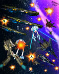 Macross Battle by tkdrobert