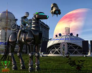 Robotic Teraformers by tkdrobert