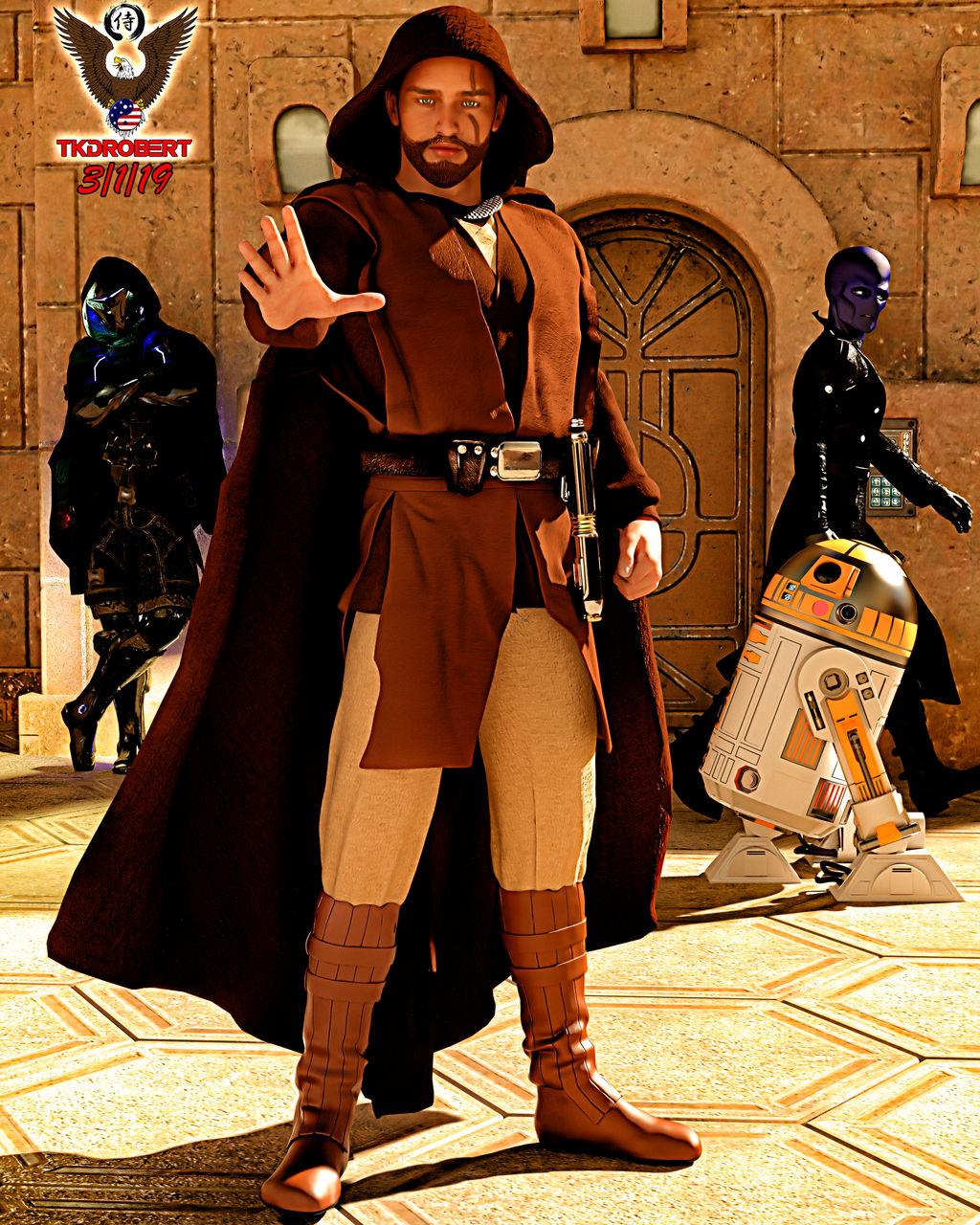 Jedi Knight Seare Hawkeye (Updated) by tkdrobert