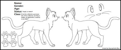 Cat Reference Sheet Lineart by Miiroku