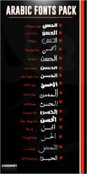 Arabic Fonts Back by Alhassan4Gfx
