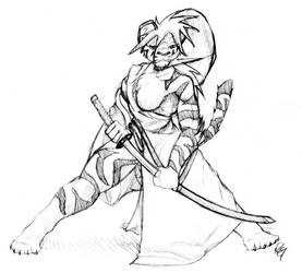 Tiger Samurai by RickGriffin