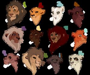 Massive lion bust designs. CLOSED by BeeStarART