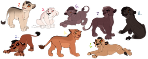 Sketchy cub adopts. CLOSED: by BeeStarART