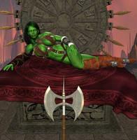 She-Hulk, The Savage by Chup-at-Cabra
