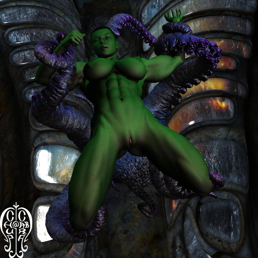 She-Hulk vs Shuma-Gorath by Chup-at-Cabra