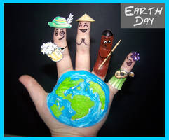 Finger Art: Earth Day by Cathy86