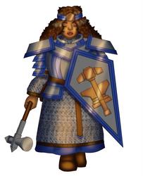 Bolhild Ruby-Eye, Dwarf Paladin of Moradin by White-Rose-Brian