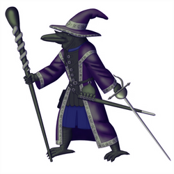 Slapstick, Kenku Wizard-Rogue by White-Rose-Brian