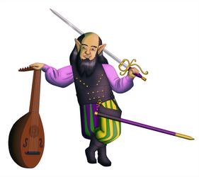 Melmel Silverthread, Comedian Gnome Bard by White-Rose-Brian