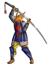 Jerynomonis Hirrathak, Gold Dragonborn Samurai by White-Rose-Brian