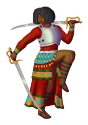 Dona Ramondo, Dancing Turami Bard of Swords by White-Rose-Brian
