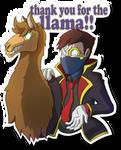 Thank you for the llama!! by BenArtsStudio