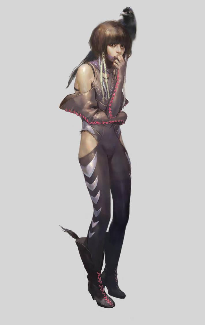little ninja girl by rogner5th