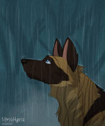 Rain, rain go away by MonaHyena