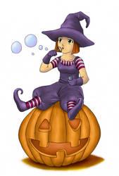 Chibi Pumpkin by cimo-lee