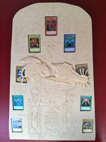 Yu-Gi-Oh tablet of lost memories display board by scampy001