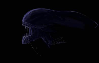 Xenomorph sketch by kaithel