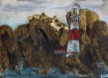 On the Rocks ACEO by De-Vagrant