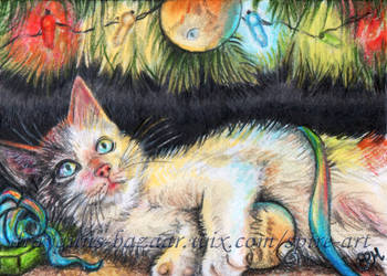 Love at First Swipe ACEO by De-Vagrant