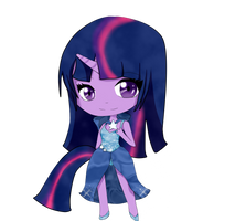 MLP Chibi: Twilight Sparkle by Sumima