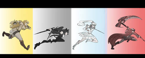 RWBY MOVE OUT by ScruffyPalmTrees