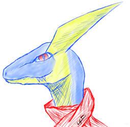 Greninjraptor by Phillus