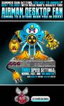 Air Man Desktop Fan by debureturns