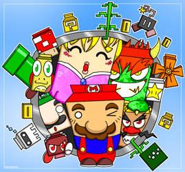 Super Mario Karton by debureturns
