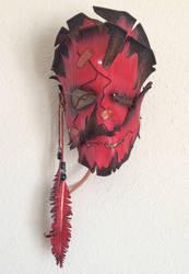 Cracked And Sewn Shaman Leather Mask by TasteOfCrimson