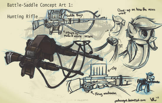 Battle-Saddle Concept Art 1 by VintageNinjaFish