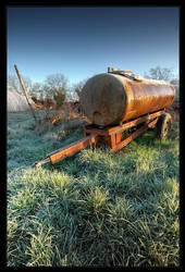 A cold morning 4 - old trailer by FrederikM