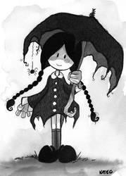 Wednesday Addams by Katie-O