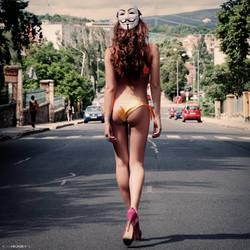 Walking Anonymously by zlty-dodo
