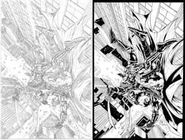batman vs deathstroke by juancastroinker
