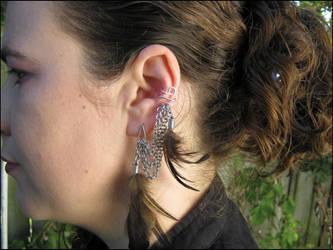 Feather Ear cuff by immortaldesigns