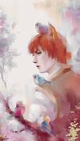 Fox and birds by MarinaMichkina
