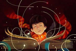 Neville and magic book by MarinaMichkina