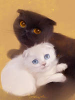 My cats by MarinaMichkina