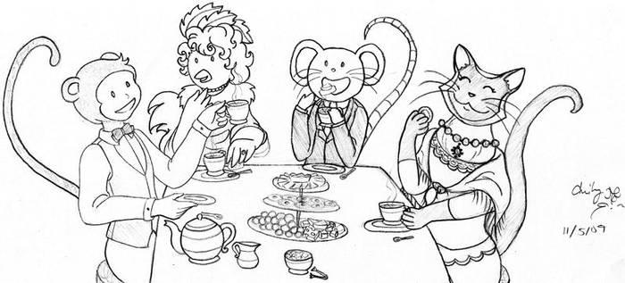 Animal Tea Party by Lanisatu