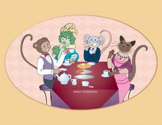 Tea Party WIP 2 by Lanisatu