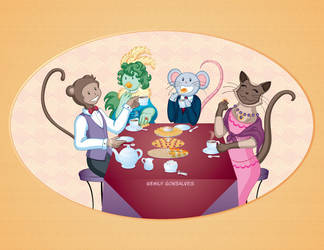 Tea Party for the Animals by Lanisatu