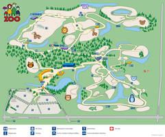 Toronto Zoo Map by Lanisatu