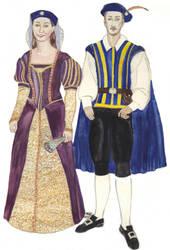 LARP character portrait of a couple by Amalias-dream