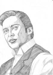 Portrait of Hugh Jackman in the movie Prestige by Amalias-dream