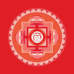 red Chakra-Mandala (Muladhara) by Amalias-dream
