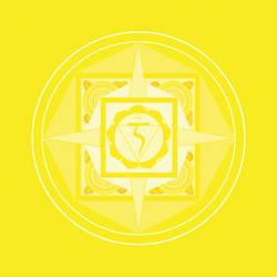 yellow chakra mandala (Manipura) by Amalias-dream