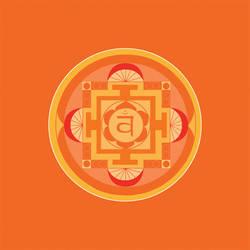 orange chakra mandala (Svadhisthana) by Amalias-dream